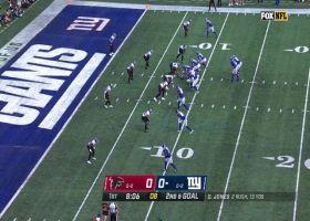 Grady Jarrett plows through Giants OL for sack