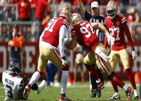 Nick Bosa wraps up Russell Wilson for third-down sack