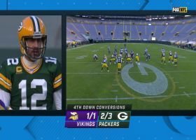 Rodgers fires fourth-down dart to St. Brown to keep Packers' drive alive