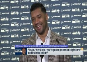 Russell Wilson discusses helping David Moore hit $100K contract incentive in Week 17
