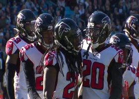 Trufant undercuts Kyle Allen's end-zone throw for first INT since Week 2