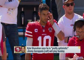 Mike Garafolo: Kyle Shanahan 'optimistic' Jimmy Garoppolo will play Week 7
