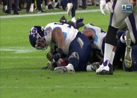 Jeffery Simmons recovers after Jurrell Casey strip-sacks Lamar Jackson