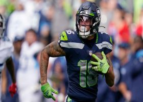 Freddie Swain could not be more open on 68-yard TD toss from Russell Wilson