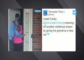 Caleb Farley gives his grandma a new car