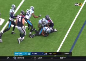 Vernon Butler strip-sack leads to fumble recovery by Eric Reid