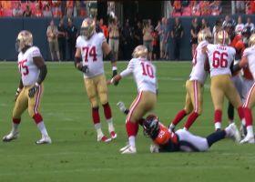 Jimmy Garoppolo's second pass of preseason is intercepted