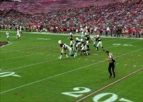 Watch Detroit Lions linebacker Jarrad Davis sack Arizona Cardinals quarterback Josh Rosen for a 7-yard loss | True View