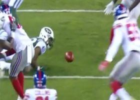 Trenton Cannon fumbles on kick return, Giants recover