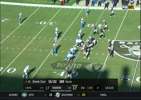 Derek Carr fires pinpoint throw down the seam to Marcell Ateman for 34 yards