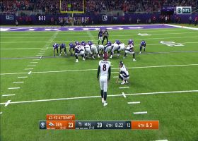 McManus's FG is wide right as Vikings stay within one score