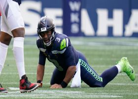Titans corral Russell Wilson at Seahawks' own 1-yard line for key sack