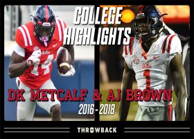 NFL Throwback: DK Metcalf and A.J. Brown college highlights