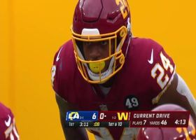 Antonio Gibson muscles through defenders for thunderous 18-yard  reception