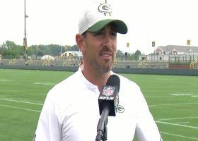 Matt LaFleur discusses having Aaron Rodgers back at Packers camp