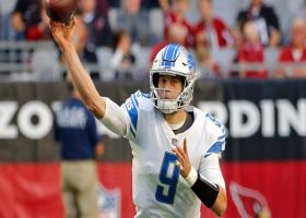 Stafford slings side-arm pass for first down