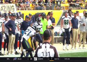 Tip drill! McDougald picks off Rudolph's second NFL throw