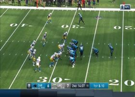 Mike Davis showcases his power to Chargers defense for 25 yards