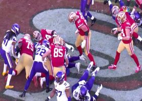 Anthony Barr rips ball from Matt Breida for fourth-down turnover
