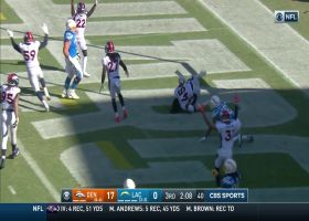 Broncos LB outmuscles Mike Williams for key end-zone INT