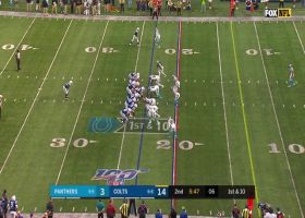Jacoby Brissett hits Mo Ali-Cox back across field for 21 yards