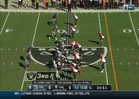 Bengals collapse the pocket on Carr for huge third-down sack