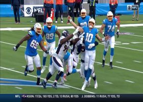 Parham secures Hebert's fumble to save Chargers from major turnover