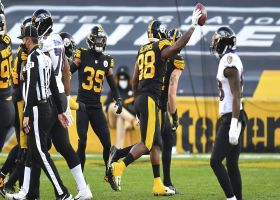 Steelers fall on Ravens' mishandled exchange for early turnover
