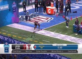 Jordan Brooks runs an official 4.54 second 40-yard dash