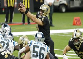 Drew Brees goes airborne on QB sneak for vintage leaping TD
