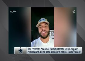 Dak Prescott sends gratitude to all fans, players, coaches who wished him well in surgery