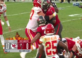 Shaq Barrett strip-sacks Mahomes for key red-zone turnover