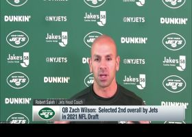 Robert Saleh, Elijah Moore share early impressions of Zach Wilson