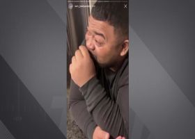 Josh Jacobs brings his father to tears after buying him a house