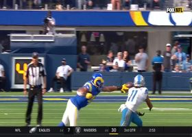 Kalif Raymond turns on the jets for 37-yard catch and run