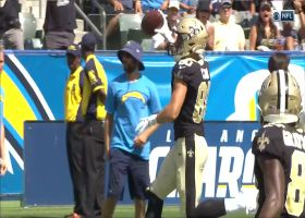 Taysom Hill drives throw to Austin Carr for Saints' first TD