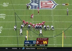 Hopkins drills 48-yard FG to put Washington on the board before halftime