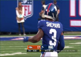 Sterling Shepard moves the chains with speedy 20-yard catch