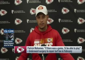 Mahomes on toe: 'If there was a game (today), I'd be able to play'