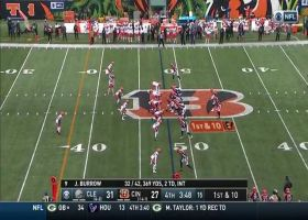 Burrow unloads laser on run to Mike Thomas for 25 yards