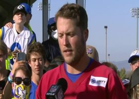 Matthew Stafford explains how he's adjusting to Sean McVay's offense with Rams
