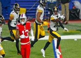 Steelers collide with Josh Allen to force first-quarter interception