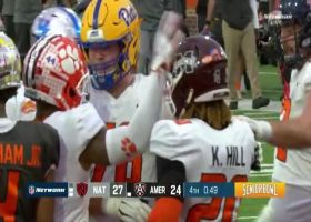 Kylin Hill barrels into the end zone for two-point conversion