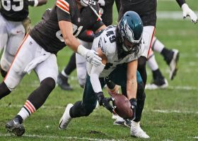 Fletcher Cox claws ball from Baker Mayfield for early second-half strip-sack