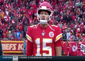 Michael Davis nabs Patrick Mahomes' misfire for early second-half INT