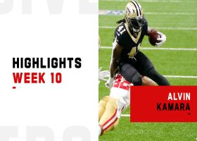 Alvin Kamara's most dynamic plays from 3-TD game | Week 10