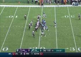 Ravens D stops Wentz's QB sneak on attempted fourth-down conversion