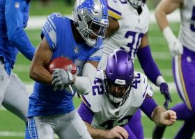 Vikings knock ball out of Jamal Agnew's hands to force fumble
