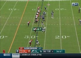 LeShaun Sims outmaneuvers Zach Ertz for contested INT