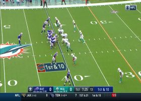 Josh Allen shows pinpoint accuracy on loft pass to Beasley